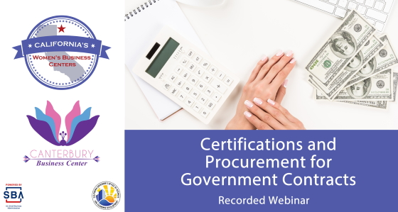 Certifications and Procurement for Government Contracts - California Women's Business Center